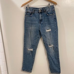 TOBI mom style jeans with holes